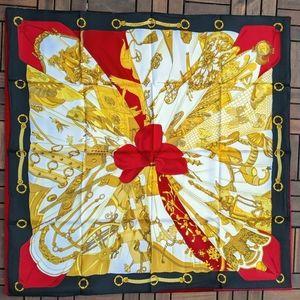 Authentic Hermes Cathy Latham Soleil de Soie 90 cm